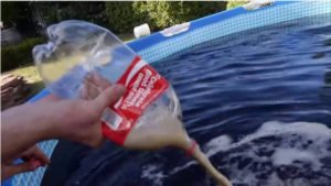 Clean your pool with Coke
