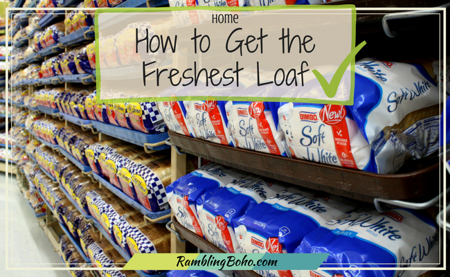 """When you go to buy bread in the grocery store, have you ever wondered which is the freshest, so you """"squeeze"""" it? #home #shopping #tips RamblingBoho.com"""