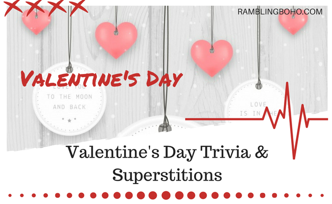 Worldwide, over 50 million roses are given for Valentine's Day each year, and other Valentines Day trivia #holidays #trivia #valentinesday RamblingBoho.com