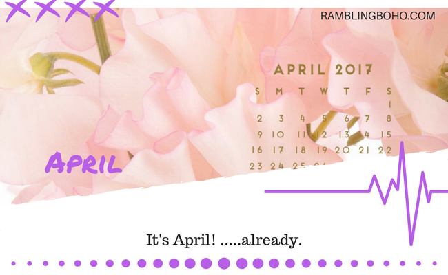 This is a busy month. I mean, this is a lot of stuff to celebrate or be aware of. #trivia #april #holidays RamblingBoho.com