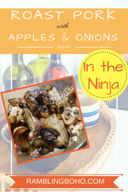 The sweetness of the apples and onions really complements the pork. #pork #apples #ninja #recipe