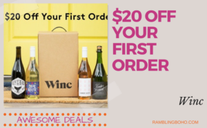 Delivering high quality wines, backed by a 100% guarantee. #deals #winc #subscription RamblingBoho.com